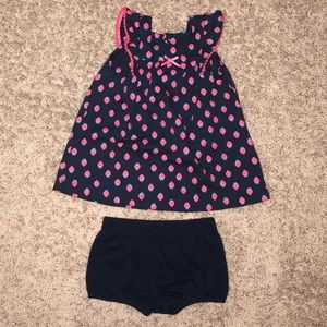 Carter's Strawberry Dress with Bloomers
